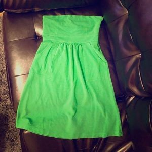 JCREW Green Cotton Summer Mini Dress Size 2